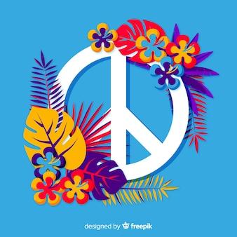Segno di pace floreale