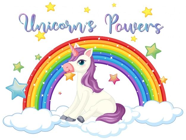 Segno di potere unicorno su sfondo bianco