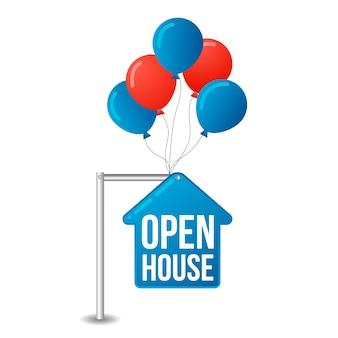 Segno immobiliare casa aperta