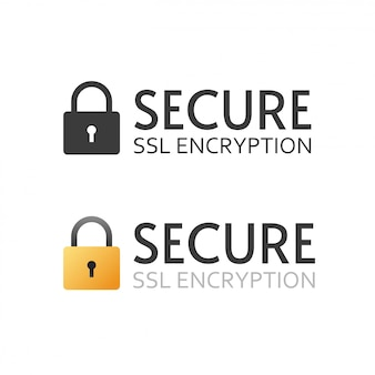 Segno in bianco e nero dell'icona di vettore del certificato sicuro di ssl o simbolo di pagamento crittografato sicuro
