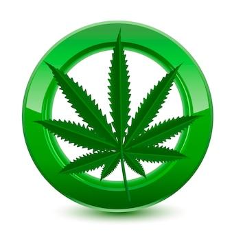 Segno legale di marijuana verde