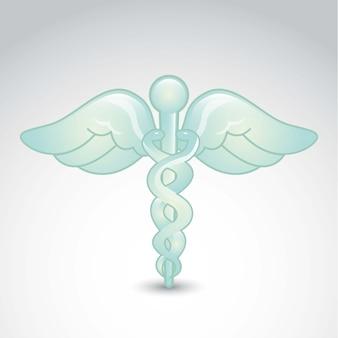 Segno medico sopra illustrazione vettoriale sfondo grigio