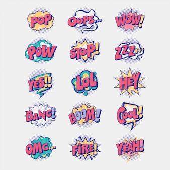 Segno pop fumetto effetto sonoro comico