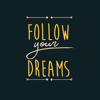 Segui la tua tipografia dei sogni