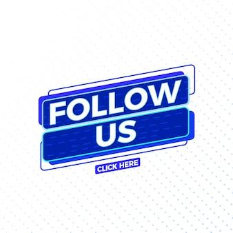 Seguici progettazione di vettore del segno di media sociali