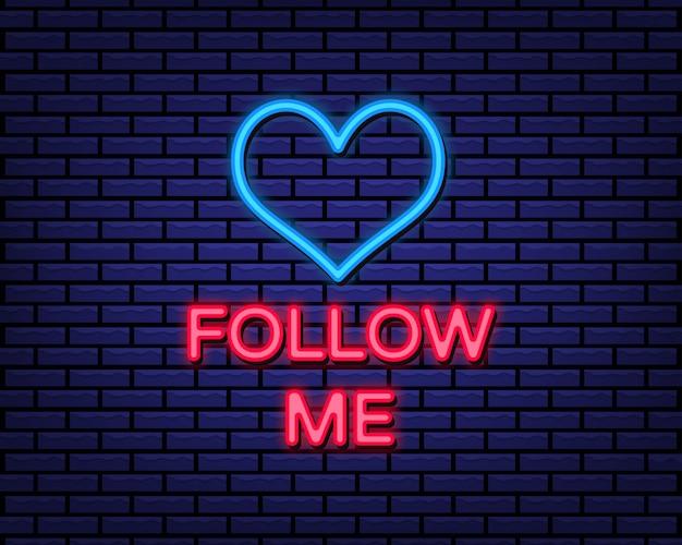 Seguimi in stile neon