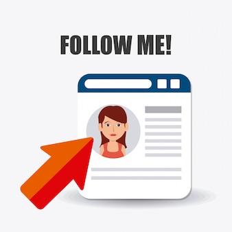 Seguimi su social e business