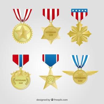 Sei medaglie di veterani