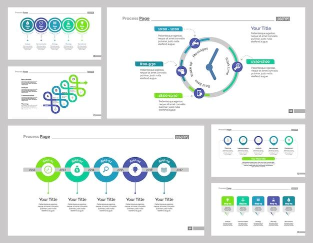Sei modelli di diapositive di formazione