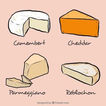 Selecction delicious di formaggio