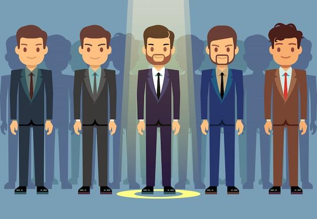 Selezione del candidato di lavoro degli impiegati