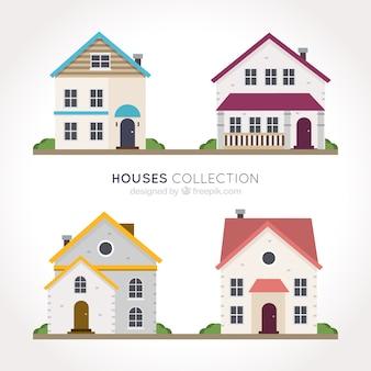 Selezione piano delle facciate delle case