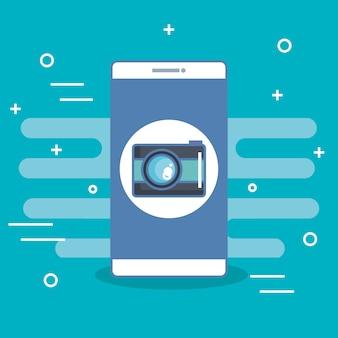 Selfie della foto di applicazione della macchina fotografica del telefono cellulare