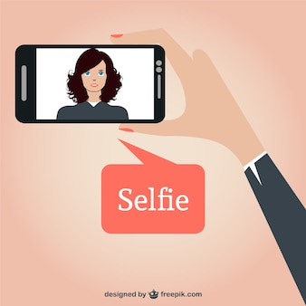 Selfie disegno vettoriale libero