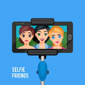 Selfie photo template