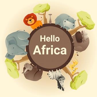 Selvaggio animale sfondo africano