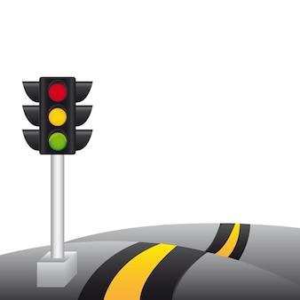 Semaforo sulla strada