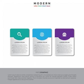 Semplice 3d piatto con modello di infographic di ombra