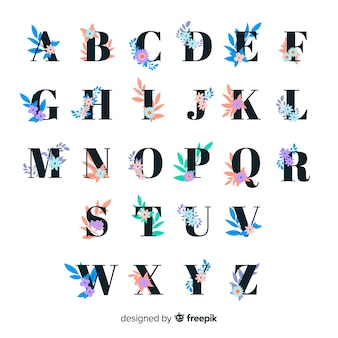 Semplice alfabeto floreale