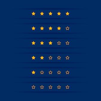 Semplice design del simbolo di valutazione a stelle