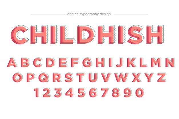 Semplice disegno di tipografia rosso carino