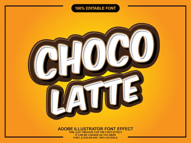 Semplice effetto carattere cioccolato
