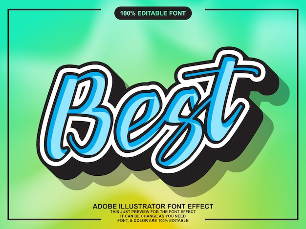 Semplice effetto del carattere adesivo script migliore