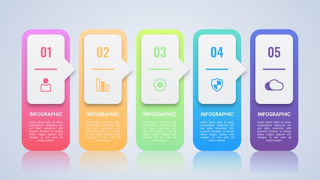 Semplice modello colorato infografica