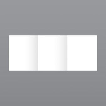 Semplice modello di brochure bianco su sfondo grigio