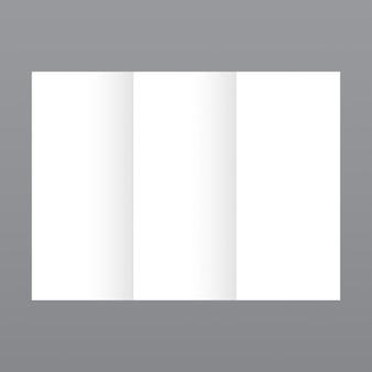 Semplice modello di brochure bianco