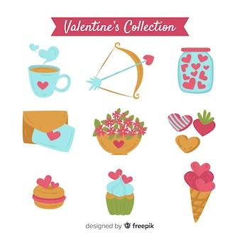 Semplice pacchetto di elementi di san valentino