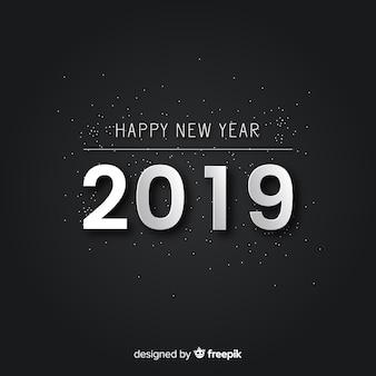 Semplice sfondo argento nuovo anno