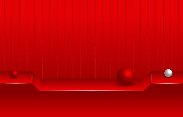 Semplice stanza vuota rossa