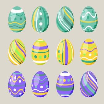 Semplici uova di pasqua a motivi geometrici