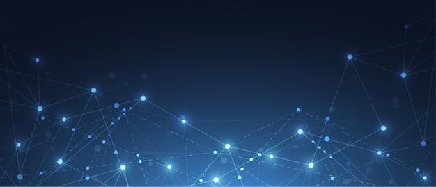 Senso astratto di connessione internet del fondo di scienza
