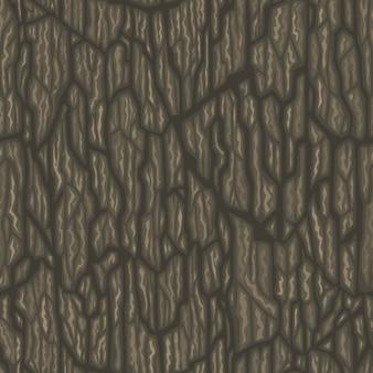 Senza soluzione di continuità albero cartone animato corteccia texture illustrazione vettoriale piastrellabile