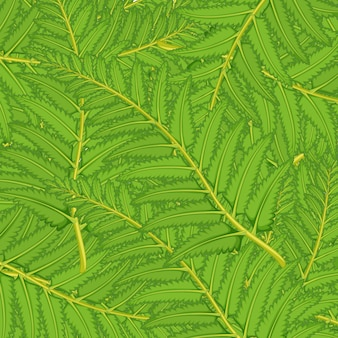 Senza soluzione di continuità con foglie verdi