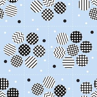 Senza soluzione di continuità fiore monocromatico con argento dot glitter pattern su sfondo bianco