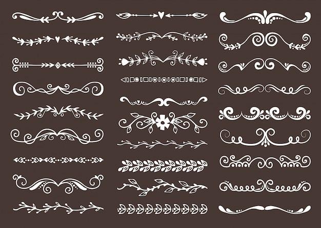 Separatori del testo dell'elemento di progettazione del libro d'annata di lerciume del divisore di vettore del testo retro