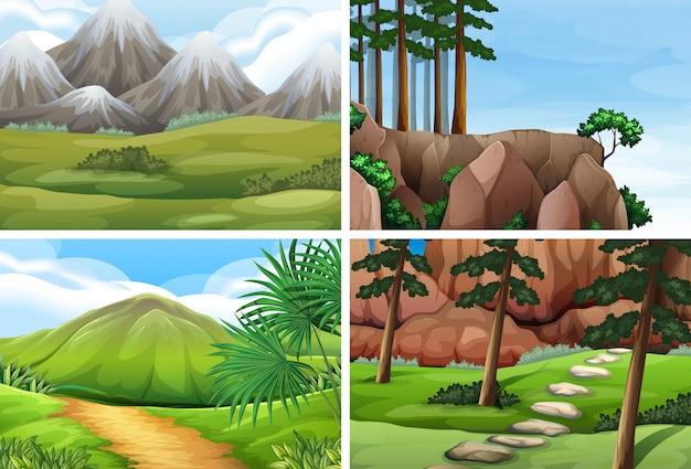 Ser of nature landscapes