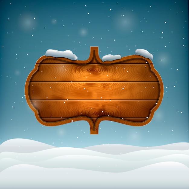 Serata invernale con tavola di legno.