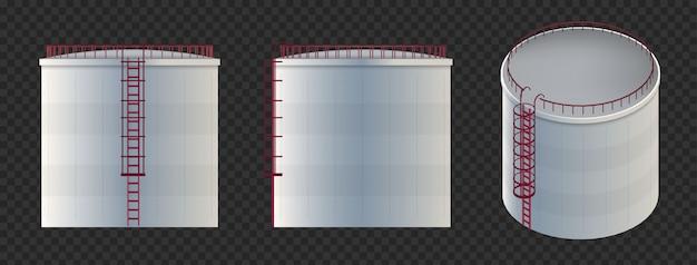 Serbatoio dell'acqua, serbatoio di stoccaggio del petrolio grezzo, cilindro.