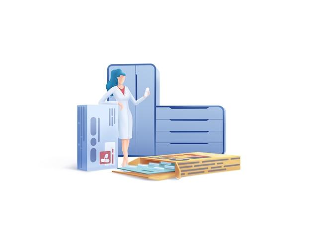 Serie di assistenza sanitaria: illustrazione di farmacista