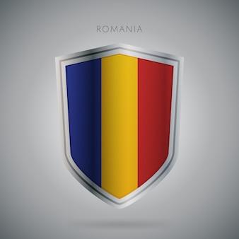 Serie di bandiere europa icona della romania.