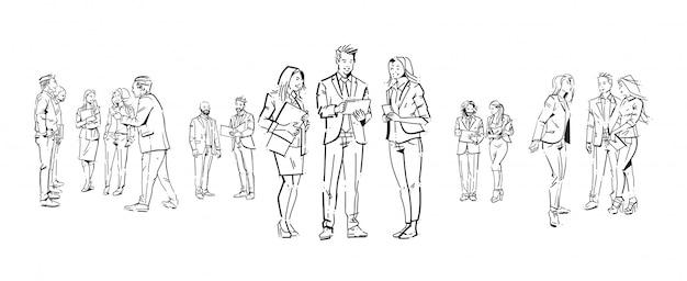 Serie di illustrazioni di uomini d'affari