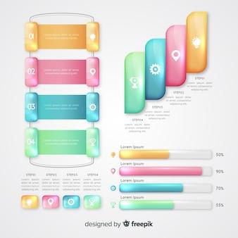 Serie di raccolta di elementi infografici