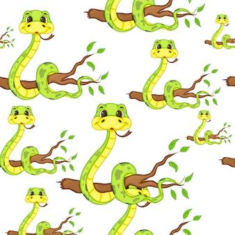 Serpente senza cuciture del fumetto