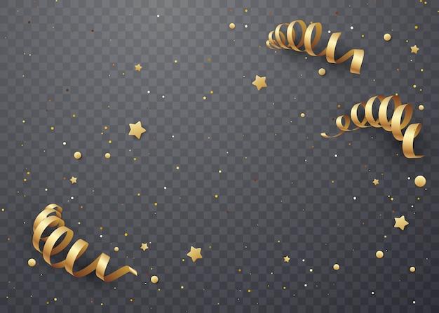 Serpentina d'oro su uno sfondo trasparente.