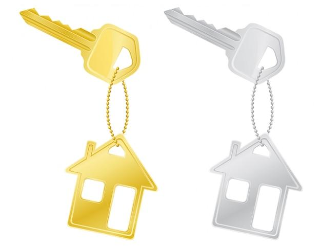 Serratura delle chiavi della casa.
