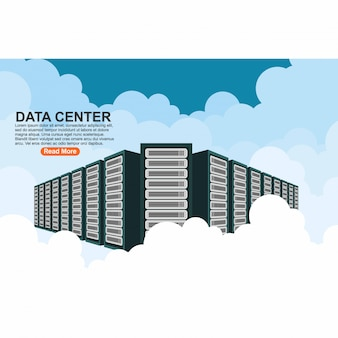 Server di hosting connessione computer cloud data center